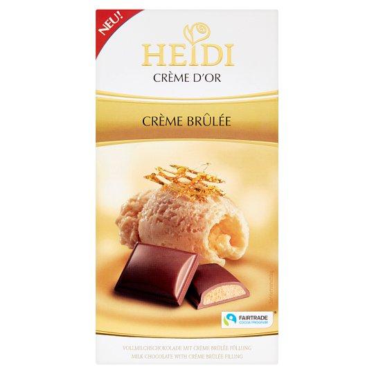 Heidi Crème d'Or Mliečna čokoláda s výplňou z hľuzoviek s karamelom 90 g