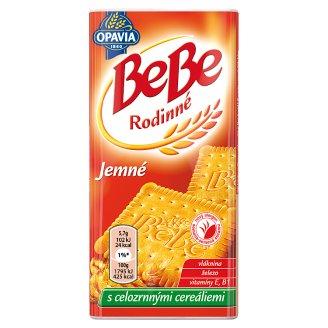 Opavia BeBe Rodinné jemné sušienky s maslovou a vanilkovou príchuťou s celozrnnými cereáliami 130 g