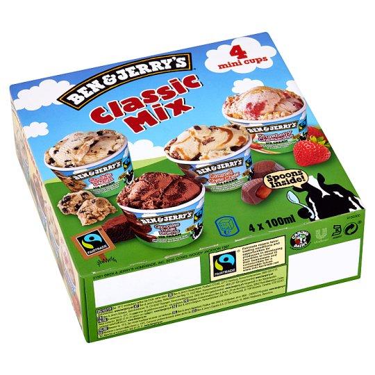 Ben & Jerry's Classic Mix zmrzlina 4 x 100 ml