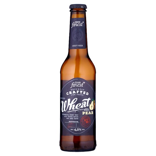 Tesco Finest Light Special Wheat Beer with Pear Taste Unfiltered 330 ml