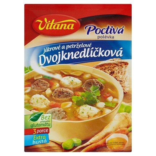 Vitana Poctivá polievka dvojknedličková pečeňové a petržlenové 85 g