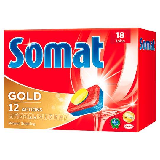 Somat Gold Prostriedok na automatické umývanie riadu 18 ks 342 g