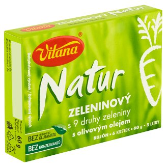 Vitana Natur Vegetable Stock Cubes with 9 Kinds of Vegetable and Olive Oil 60 g
