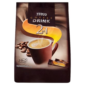 Tesco Rozpustná zmes na prípravu kávového nápoja 2in1 10 x 14 g