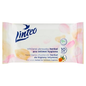 Linteo Satin Cammomile Wet Toilet Wipes for Intimate Hygiene 10 pcs