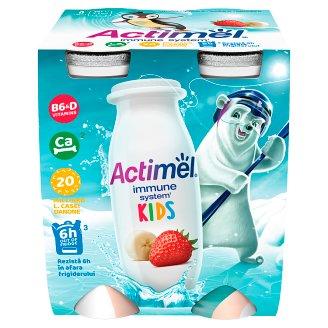 Danone Actimel Kids Yoghurt Milk with Vitamins B6 and D - Banana-Strawberry 4 x 100 g
