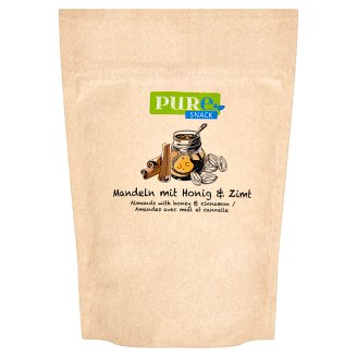 Pure Snack Roasted Slices of Blanched Almond Core with Honey, Salt and Cinnamon 125 g