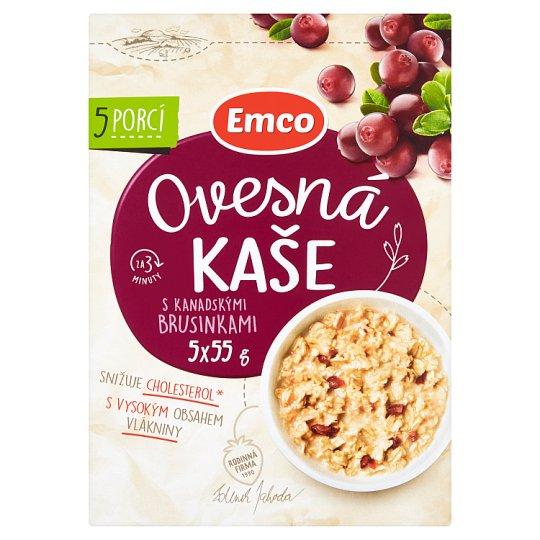 Emco Porridge with Canadian Cranberries 5 x 55 g