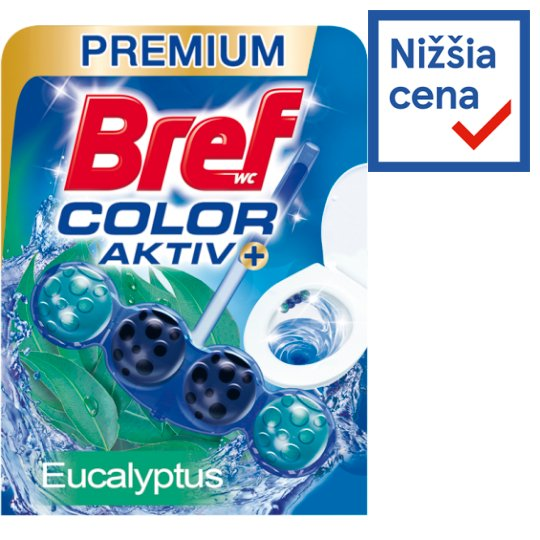 Bref Color Aktiv Eucalyptus Solid Toilet Block 50 g