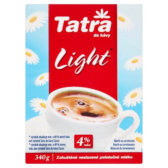 Tatra Light zahustené mlieko nesladené čiastočne odtučnené do kávy 340 g