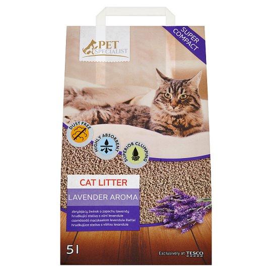 Tesco Pet Specialist Lavender Aroma hrudkujúce stelivo 5 l
