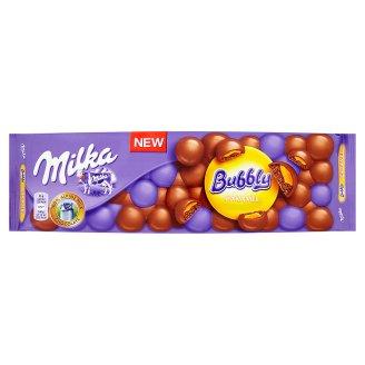 Milka Bubbly caramel mliečna čokoláda z alpského mlieka s karamelovou náplňou 250 g