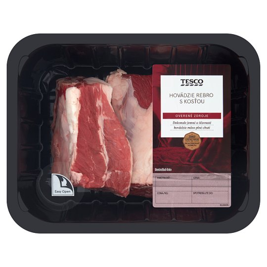Tesco Beef Ribs with Bone - Chilled