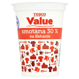 Tesco Value Smotana 30 % na šľahanie 200 ml