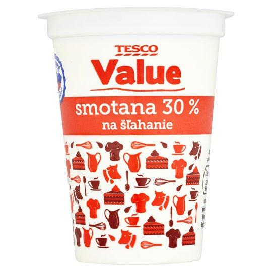 Tesco Value Smotana 30 % na šľahanie 200 ml
