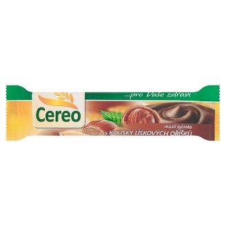 Cereo Müsli tyčinka s kúskami lieskových orechov polomáčaná v kakaovej poleve 35 g