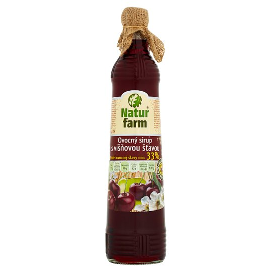 Natur Farm Fruit Syrup with Cherry Juice 0.7 L