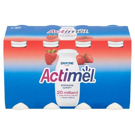 Danone Actimel Jogurtové mlieko s vitamínmi B6 a D - jahodové 8 x 100 g