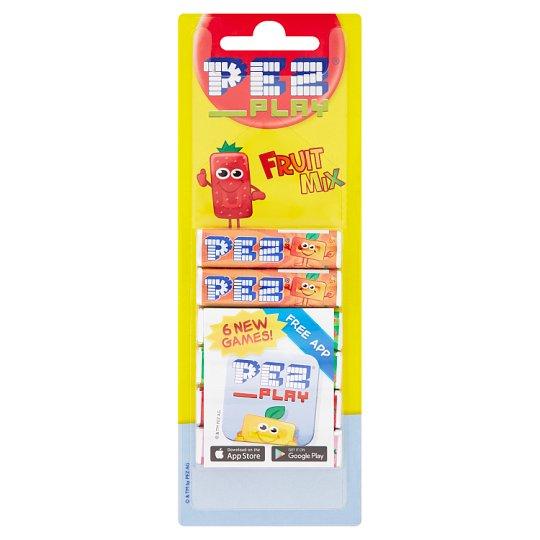 PEZ Play štangličky ovocné - komprimát s ovocnými príchuťami 6 x 8,5 g