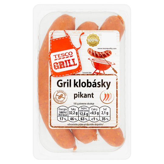 Tesco Grill Grill Sausages Spicy 350 g