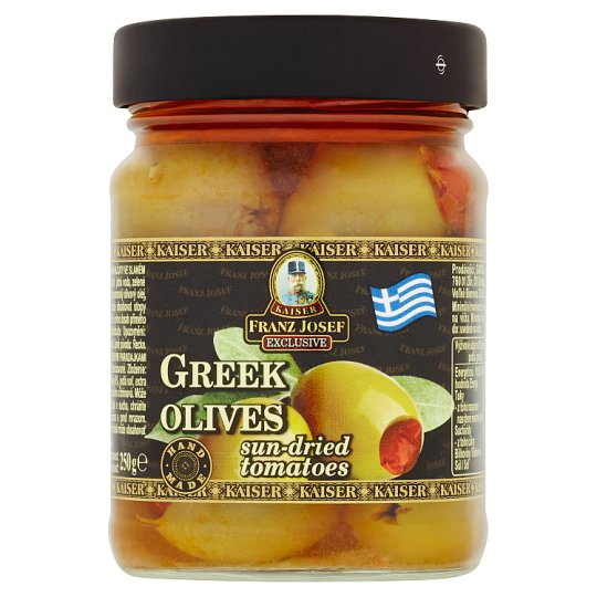 Kaiser Franz Josef Exclusive Greek Olives Stuffed with Sun-Dried Tomatoes in Brine 250 g