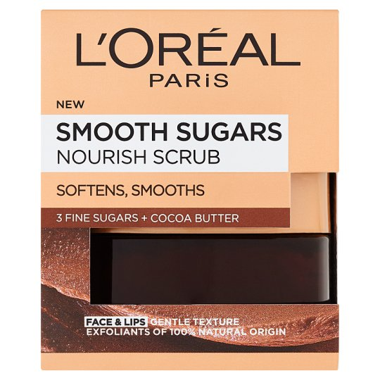 L'Oréal Paris Jemný vyživujúci cukrový scrub 50 ml