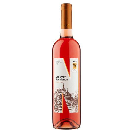 Víno Nitra Selection Cabernet Sauvignon slovenské akostné odrodové víno ružové suché 0,75 l
