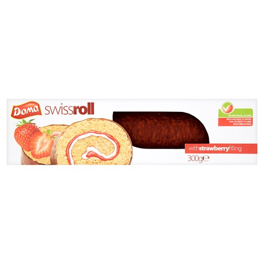Doma Swiss Roll with Strawberry Filling 300 g