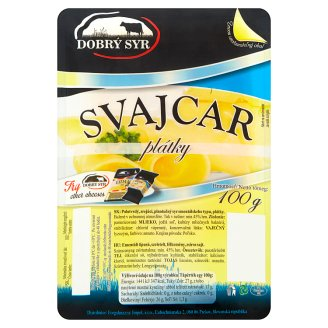 Dobrý Syr Svajcar syr ementálskeho typu plátky 100 g