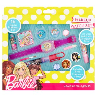 Barbie Makeup Watch Set kozmetická sada 16 ks