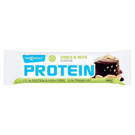MaxSport Proteínová tyčinka v tmavej kakaovej poleve s arašidmi 60 g