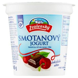 Zvolenský Smotanový jogurt čokoládový s višňou 145 g
