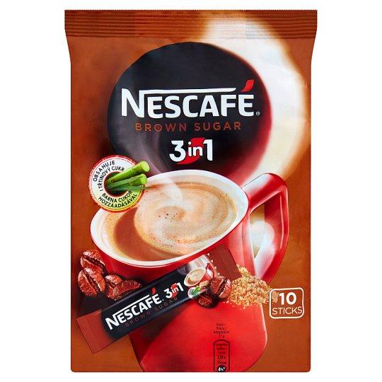 NESCAFÉ 3in1 Brown Sugar, instantná káva, 10 vreciek x 17 g (170 g)
