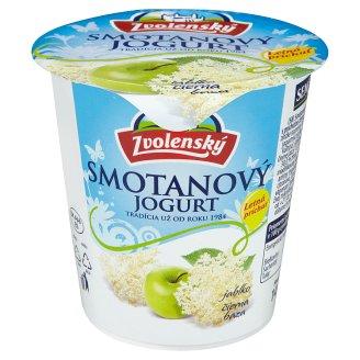 Zvolenský Smotanový jogurt jablko čierna baza 145 g