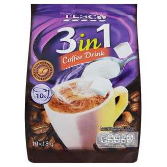 Tesco Instant Coffee Drink 3in1 10 x 18 g