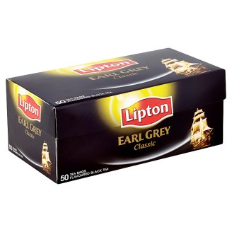 Lipton Earl Grey Classic Flavoured Black Tea 50 Tea Bags 75 g