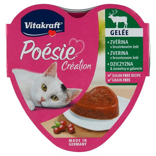 Vitakraft Poésie Gelée + Venison in Cranberry Jelly 85 g