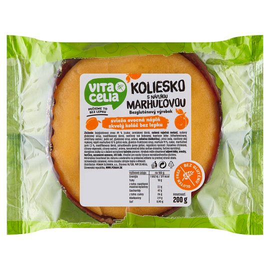 Vitacelia Gluten-Free Wheel with Apricot Filling 200 g