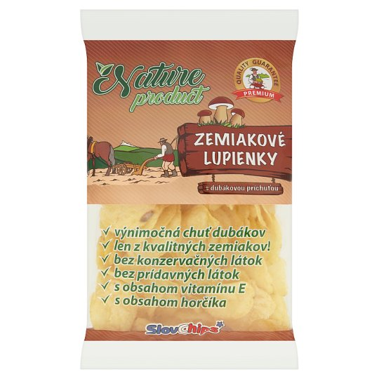 SlovChips Zemiakové lupienky s dubákovou príchuťou 75 g