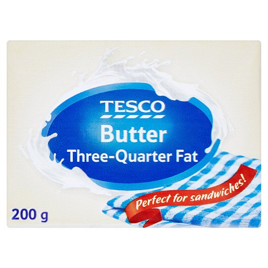 Tesco Butter Three-Quarter Fat 200 g