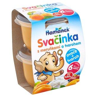 Hamánek Svačinka Dojčenská výživa s marhuľami a tvarohom 2 x 130 g