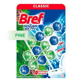 Bref Power Aktiv WC blok so 4 funkciami s vôňou borovice 3 x 50 g