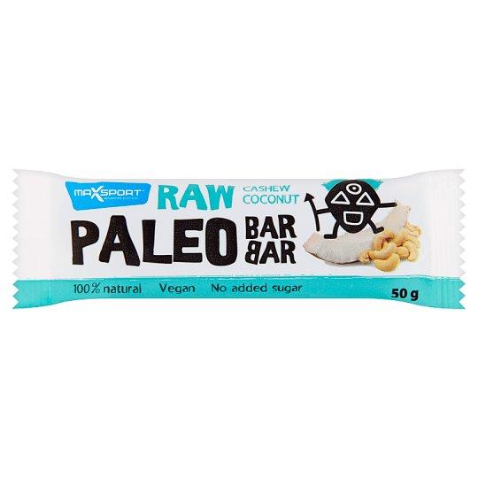 MaxSport Paleo Raw tyčinka s kokosom a kešu orieškami 50 g