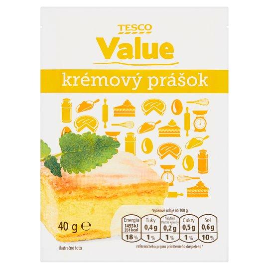 Tesco Value Krémový prášok 40 g
