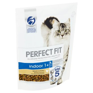 Perfect Fit Indoor 1+ Complete Food for Adult Cats Chicken 750 g