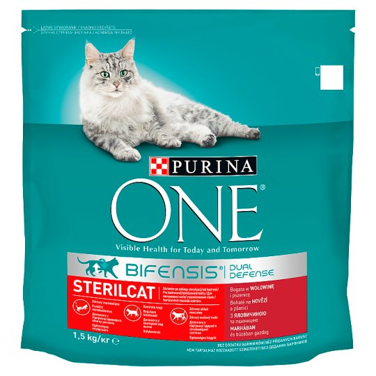 Purina ONE Sterilcat Rich in Beef and Wheat 1.5 kg