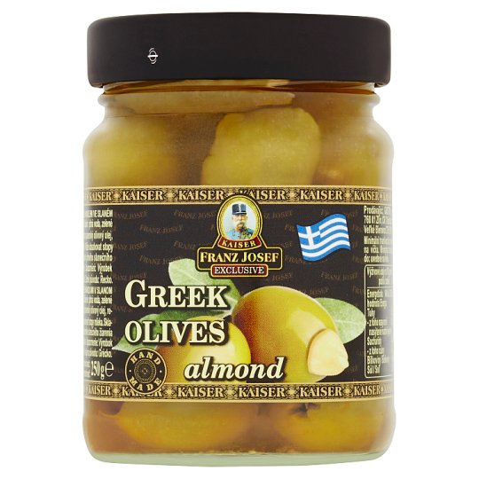 Kaiser Franz Josef Exclusive Greek Green Olives Stuffed with Almonds in Brine 250 g
