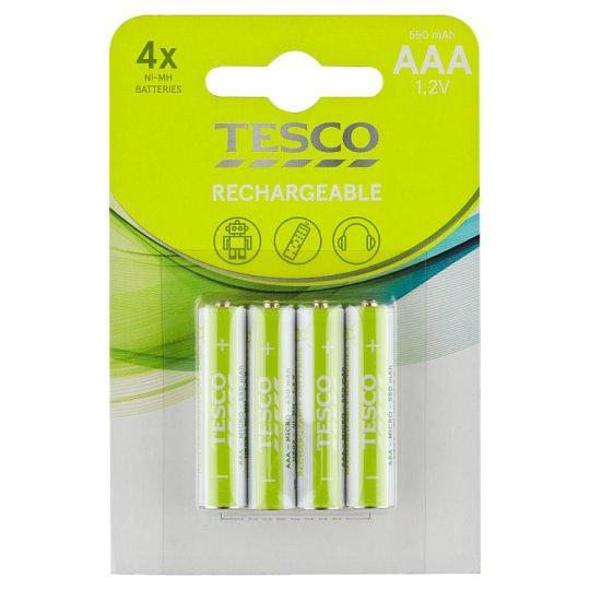Tesco Rechargeable Batteries 550 mAh AAA 4 pcs