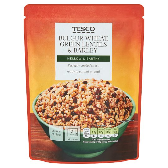Tesco Bulgur Wheat, Green Lentils & Barley 250 g