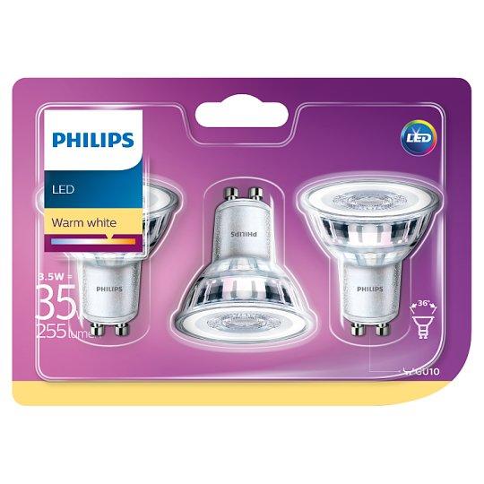 Philips LED žiarovka bodová 3,5 W (35 W) GU10 teplá biela 3 ks